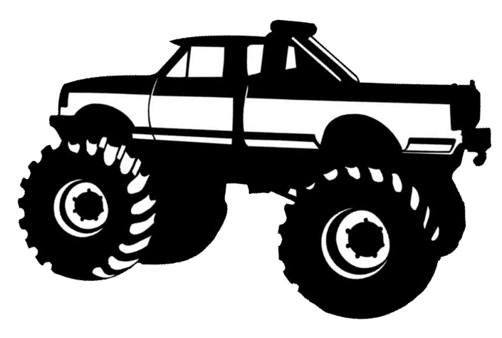 Truck clipart diggers. Free monster tracks cliparts