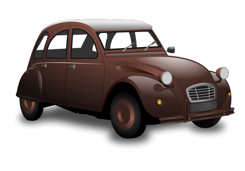 Brown car. Race clipart