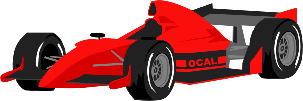 Race clipart race car. Red