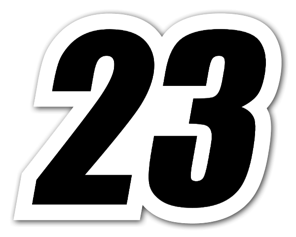 Racing numbers png. Stickerapp number sticker