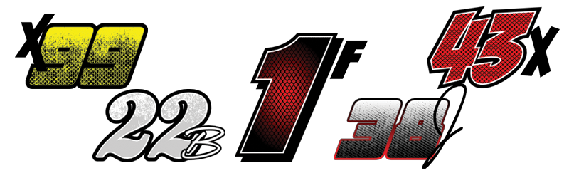 Race numbers png. Car number kits racegraphics