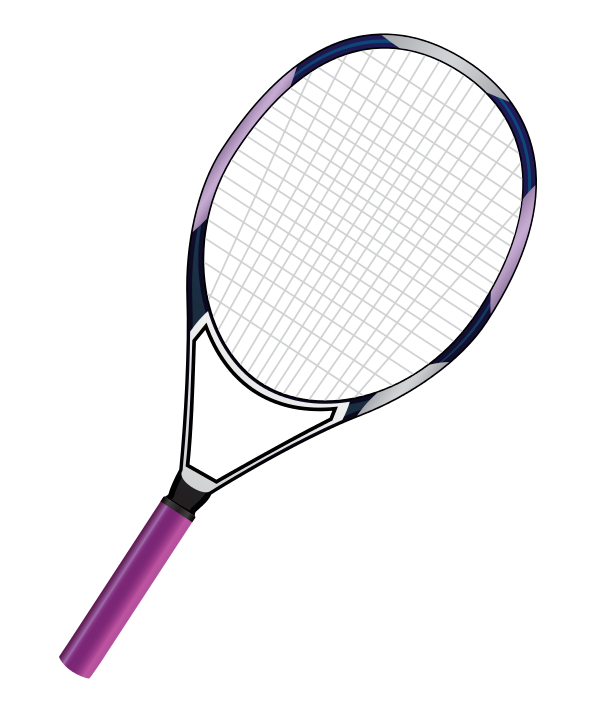 Racket clipart tennis team. Purple