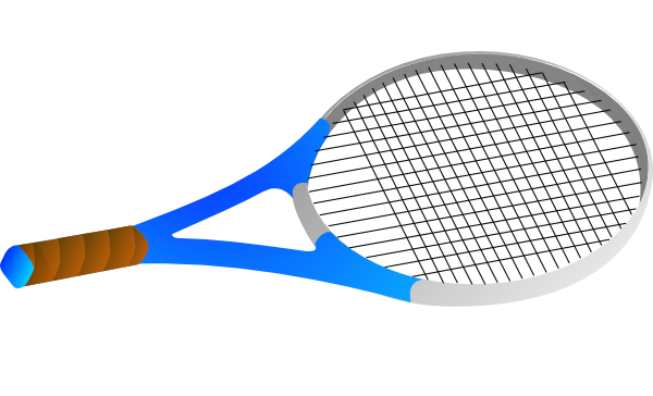 Horizontal tennis racquet clip. Racket clipart picture library