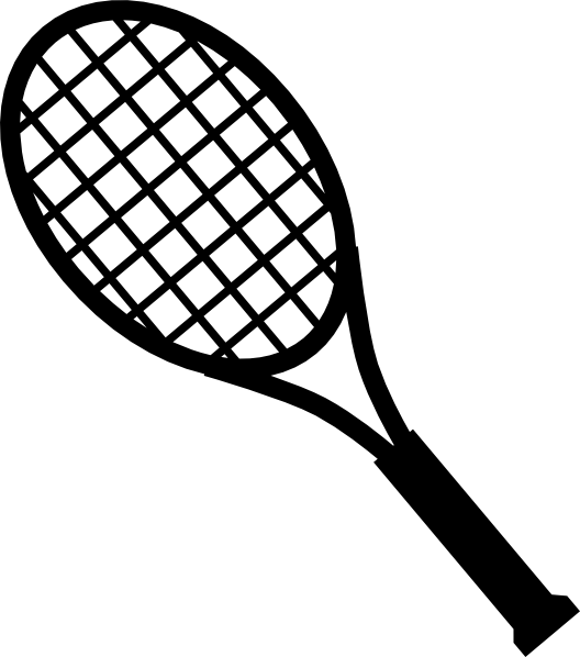 racket clipart red tennis