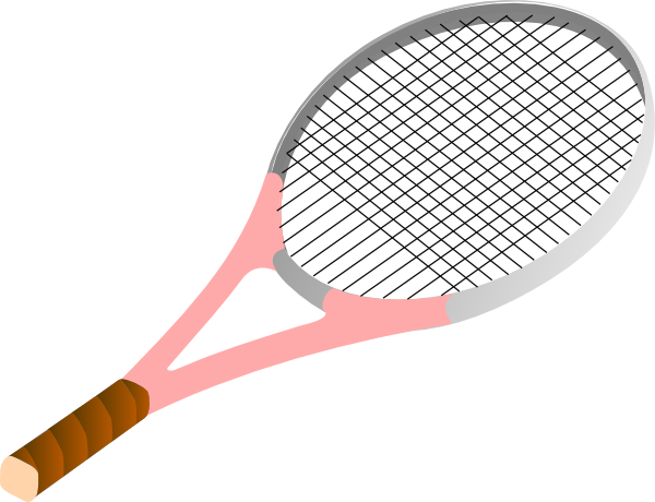 Tennis Racket Pink Clip Art at Clker