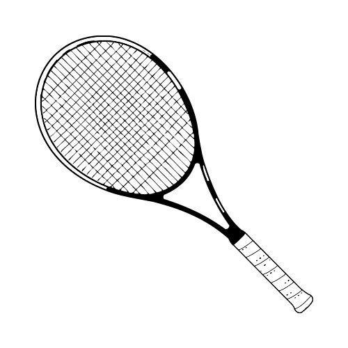 Tennis clip art get. Racket clipart svg royalty free library
