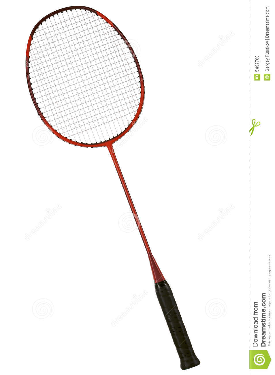Badminton racket stock image. Image of space, equipment - 5437703