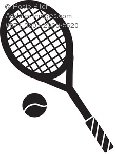 And ball silhouette royalty. Racket clipart lawn tennis picture library library
