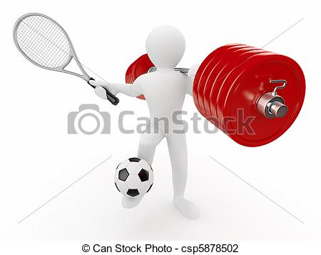 Racket clipart men's. Men with barbell and vector free stock