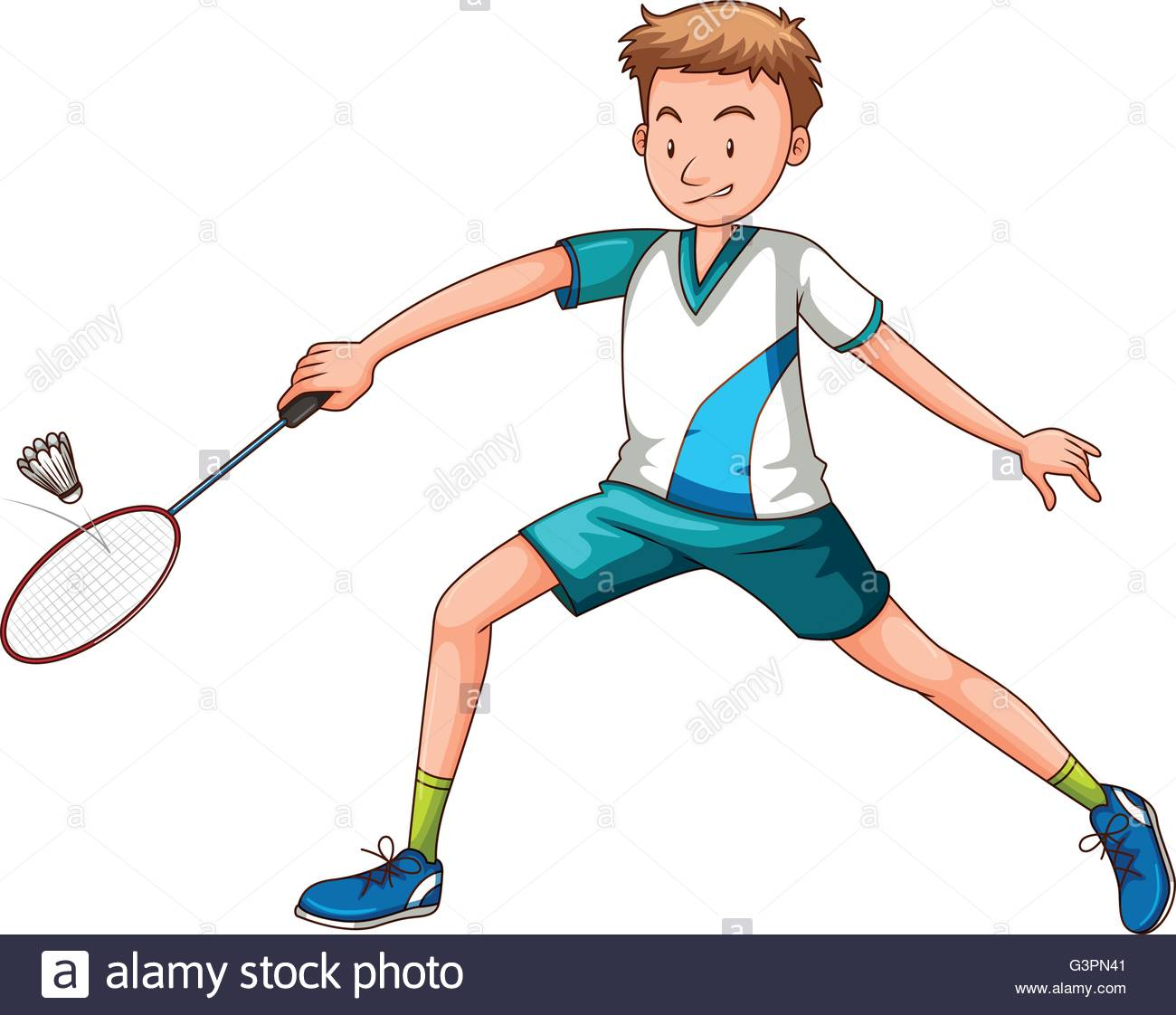 Racket clipart men's. Man playing badminton with clip art black and white