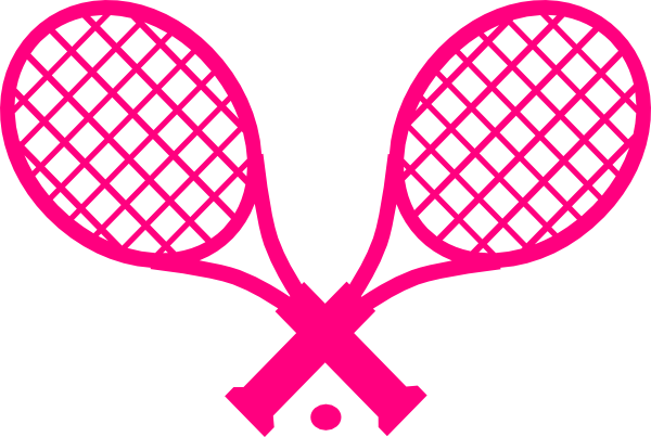 Pink tennis racket clipart.  png black and white