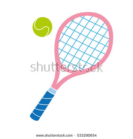 Racket clipart pink tennis racket. Ball vector icon stock png royalty free download