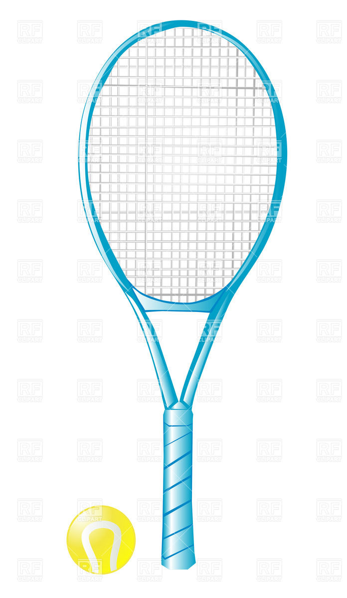 Racket clipart racket sport. Tennis with ball isolated vector royalty free
