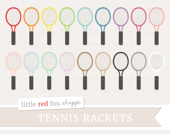Racket clipart red tennis. By little fox shoppe clip download