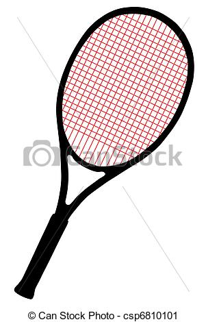 With cords on white. Racket clipart red tennis svg transparent