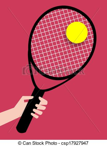 Racket clipart red tennis. Illustration of a hand vector royalty free library