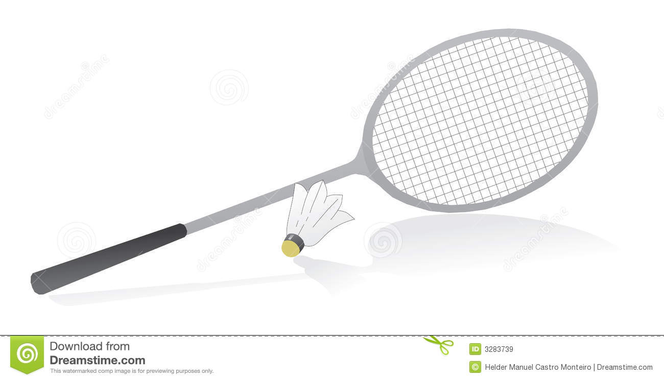 Badminton racquet with stock. Racket clipart shuttle bat png royalty free stock