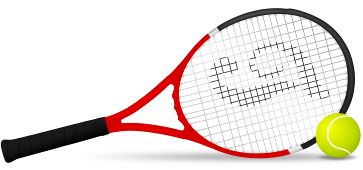 Racket clipart tennis team. Balls centre free commercial