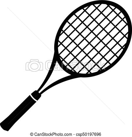 Tennis icon simple black. Racket clipart vector clipart library library