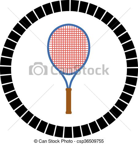 Tennis search illustration drawings. Racket clipart vector banner transparent stock
