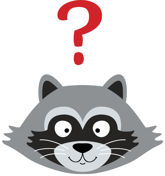 Raccoon head png. Parky the about