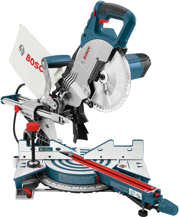 Miter saw png. Bosch in single bevel