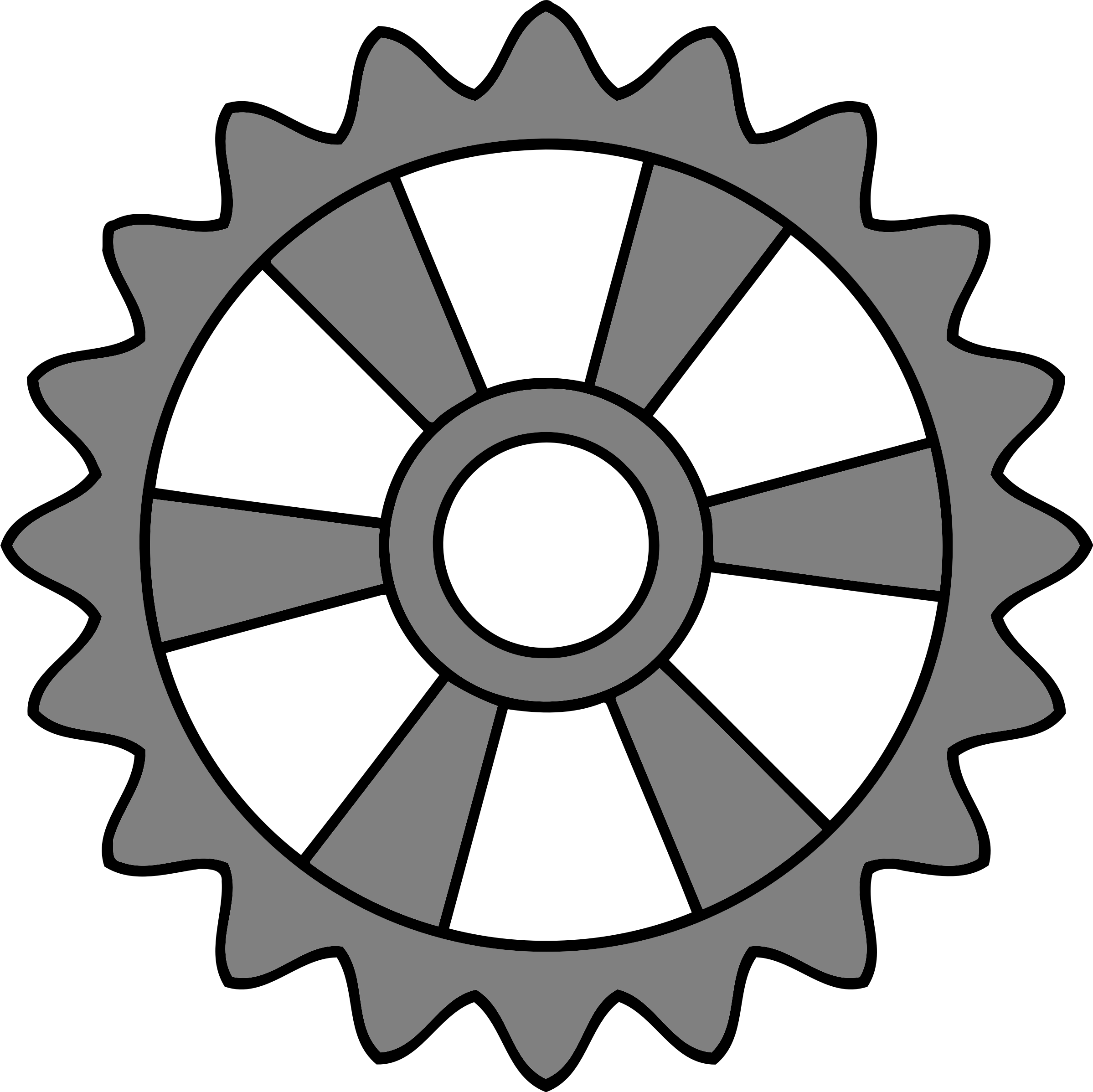 Radial drawing ink. Clipart tooth gear with