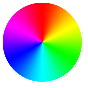 Radial drawing color wheel. Javascript how can i