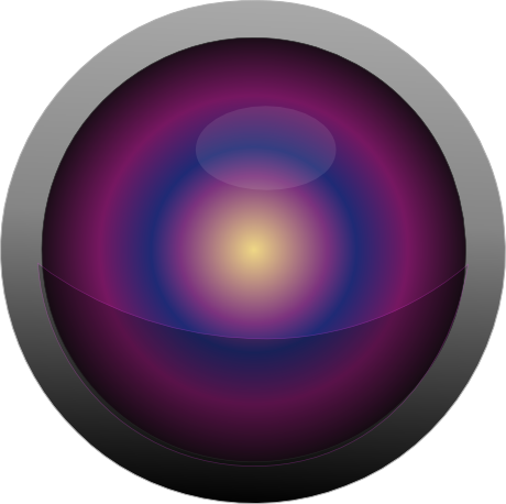 Radial drawing eye. Gradients with inkscape draw