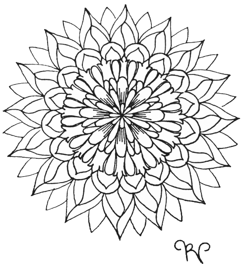 Radial drawing flower. Pin by shantall alam