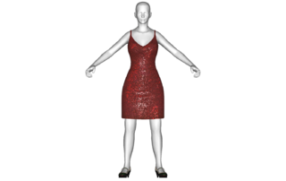 Radiation drawing dress. Red the vault fallout