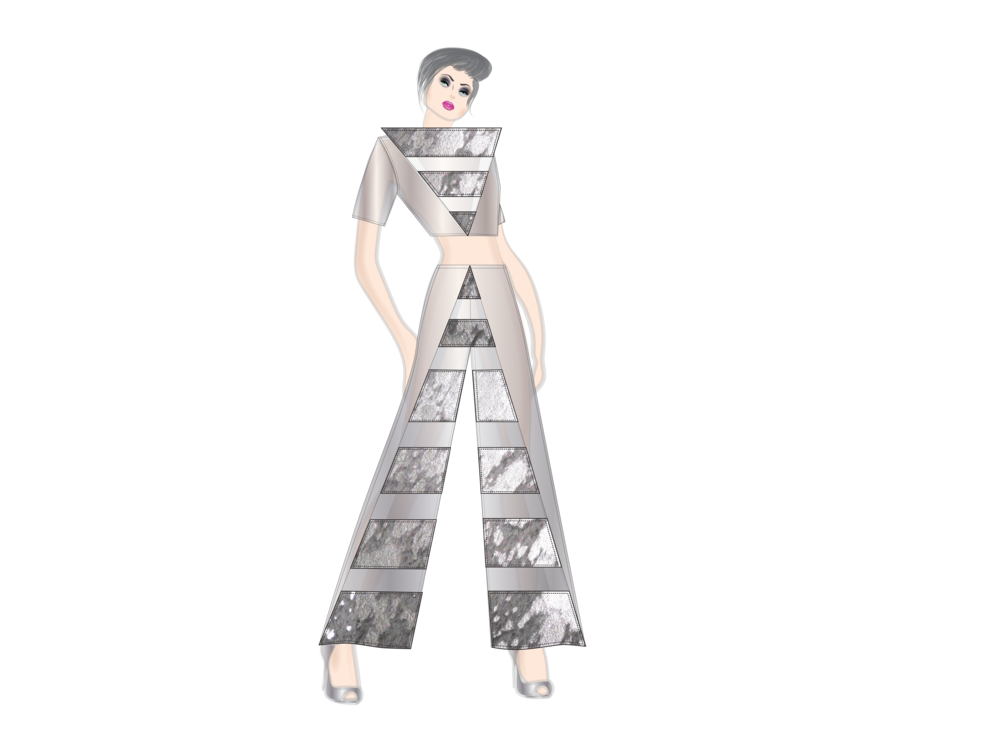 Radiation drawing dress. Nyfw the art institutes