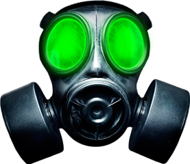 Radiation drawing gas mask. Popular and trending stickers