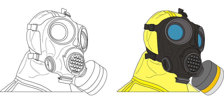 Radiation drawing gas mask. What is and how
