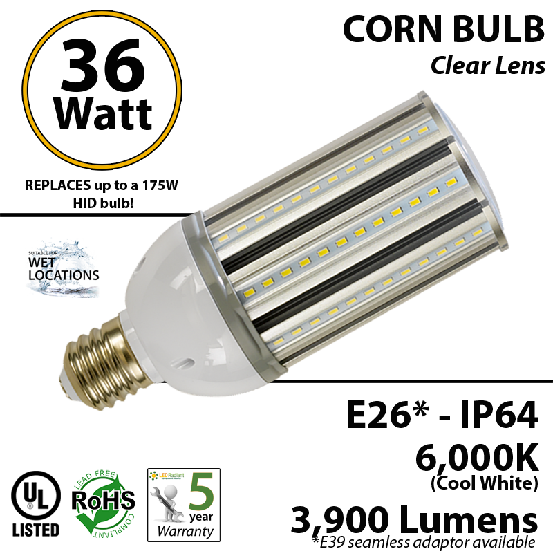 Radiation drawing light bulb. Halogen replacement led