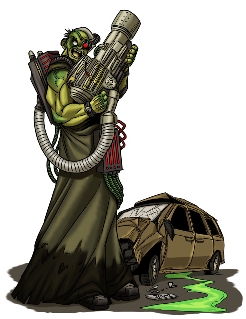 Ruins drawing sci fi. Atomic mutant by prodigyduck
