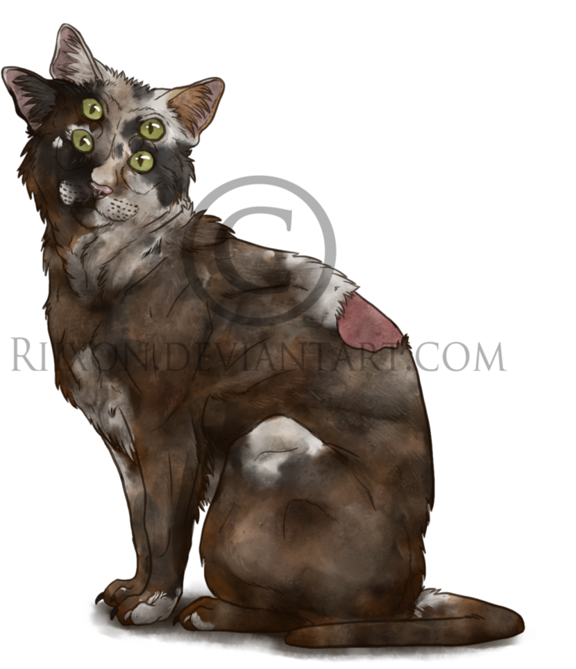 Radiation drawing mutated animal. Mutant cat by riixon