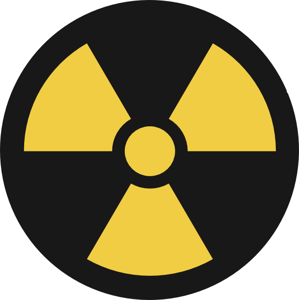 Radiation drawing nuke. Collection of symbol