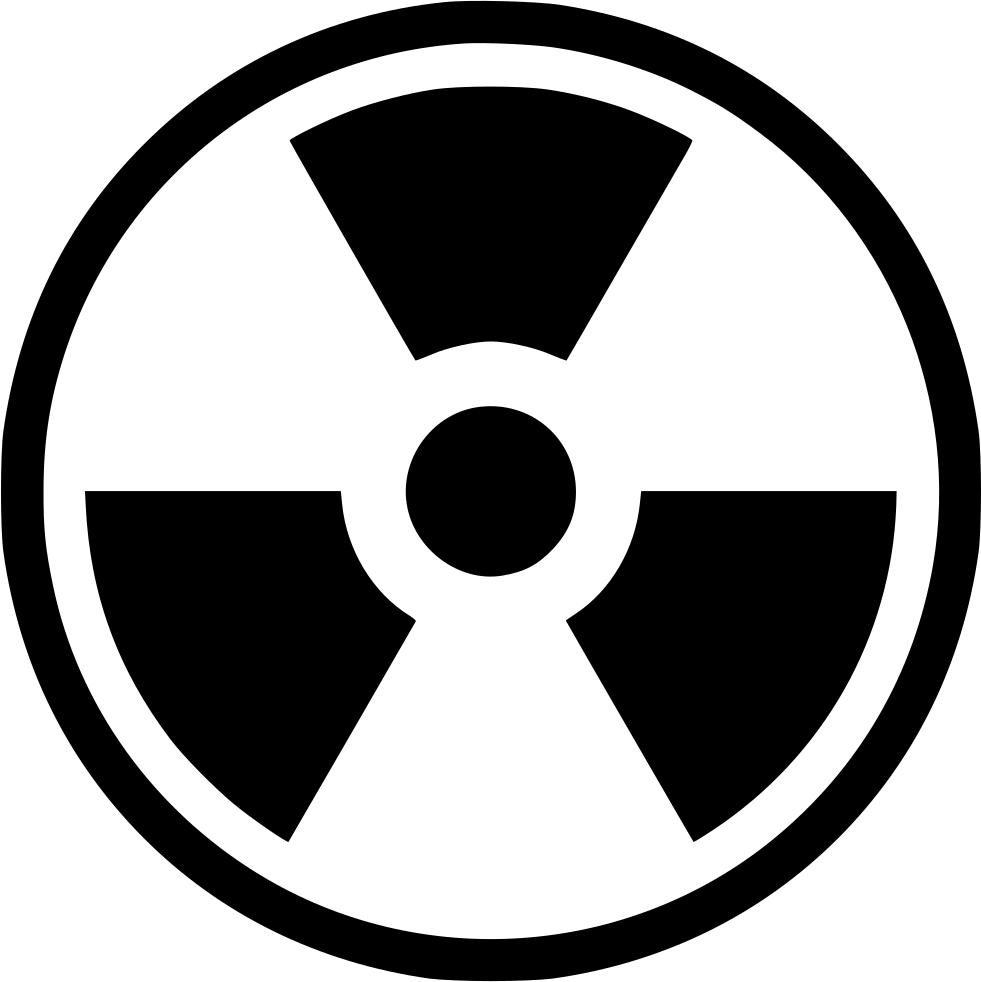 Sign svg radioactive. Radiation nuclear worker png
