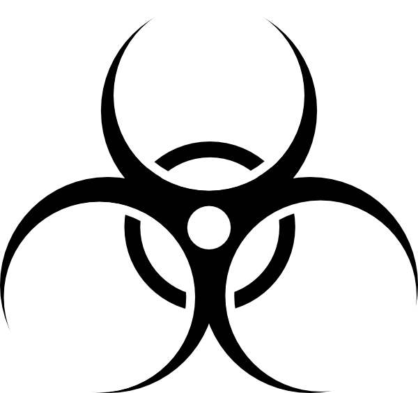 Radiation drawing symbol. Toxic trying to decide
