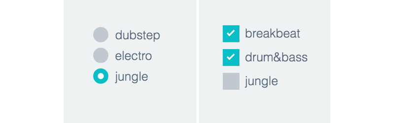 Radio checkboxes buttons png transparent. Styling and with css