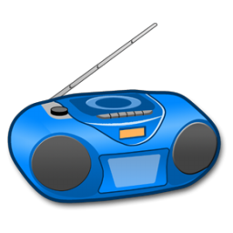 Radio clipart blue. Panda free images info