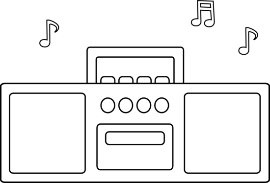 Radio Coloring Page Transparent Png Clipart Free Download Ya