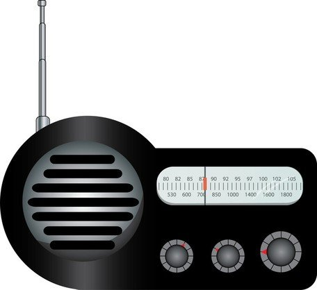 Radio clipart old radio. Free and vector graphics