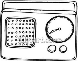 Radio clipart old radio. A simple royalty free