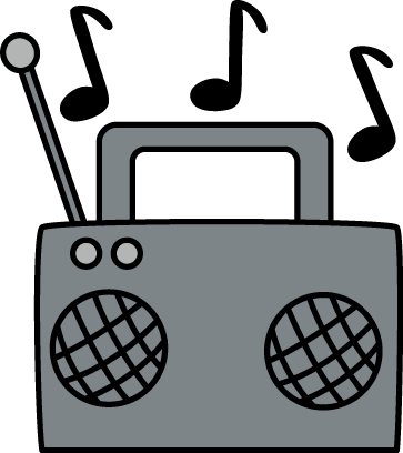 Radio clipart png. With music notes clip