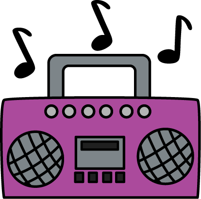 boombox clipart music note