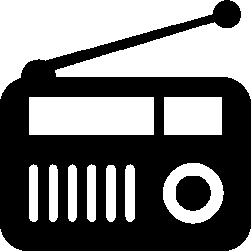 Radio png. Black and white transparent