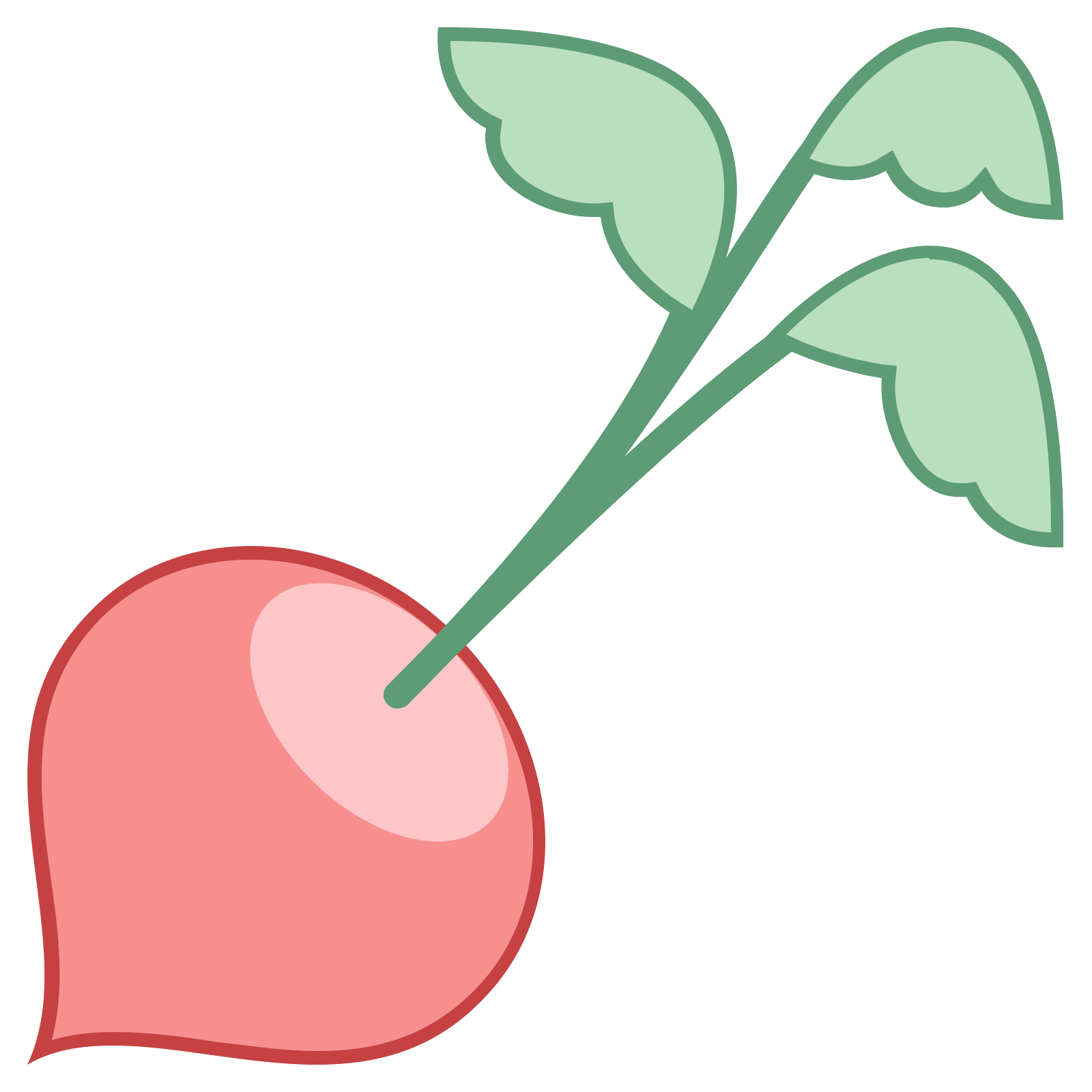 Radish vector root vegetable. Icon free download png