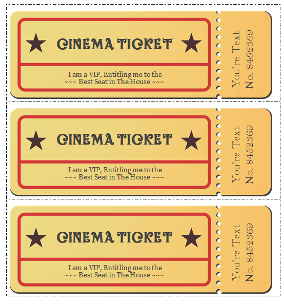 movie templates to. Raffle clipart theatre ticket svg freeuse download